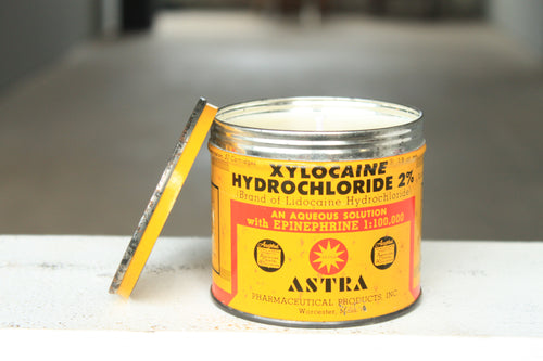 Astra Pharmaceutical Tin Candle