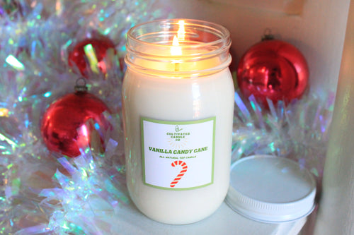 Vanilla Candy Cane Candle