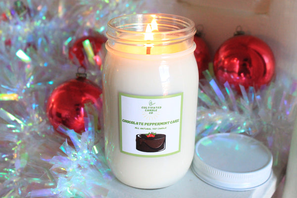 Chocolate Peppermint Cake Candle
