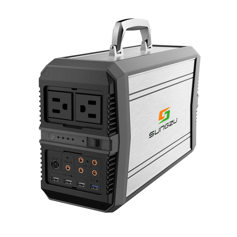 Sungzu 500-Watt Portable Generator Power Station, 156,000mAh 577.2Wh, Home Camping Emergency Power Supply Charged by Solar Panel/Wall Outlet