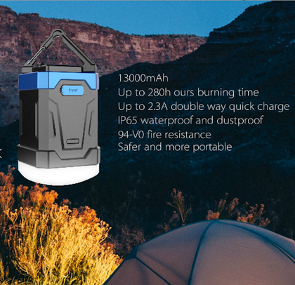 ACU Max Power LED Mini-Lantern With 13000mAh Power Bank