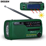 Solar Powered Emergency Radio with Flashlight And Hand Crank