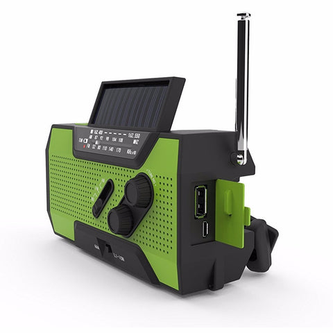Quad-Power Solar, Crank Emergency Radio with Power Bank