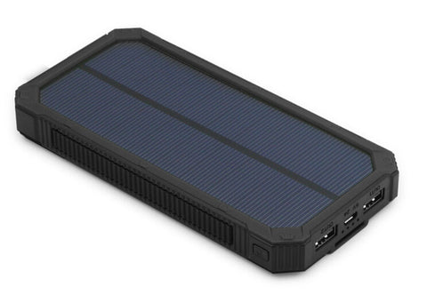 Powerful Portable Solar Panel Phone Charger With LED Flashlight