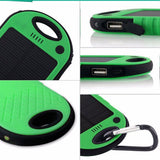 Portable Waterproof Solar Panel Phone Charger With LED Flashlight