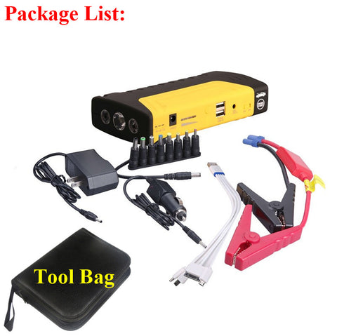 Portable Emergency Car Battery Jump Starter with Flashlight and Phone Charger