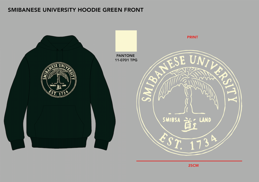 SMIBANESE UNIVERSITY FOREST GREEN HOODIE