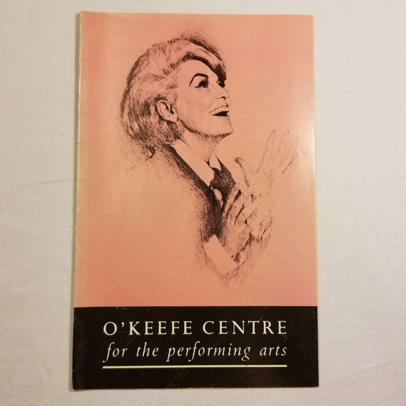 O'Keefe Centre Playbill: Jane Morgan & The Doodletown Pipers (1960s)