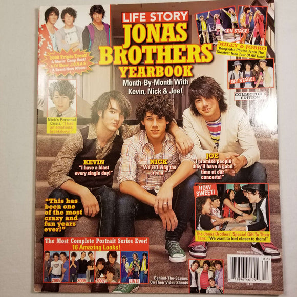 Life Story: Jonas Brothers Yearbook (May, 2008)