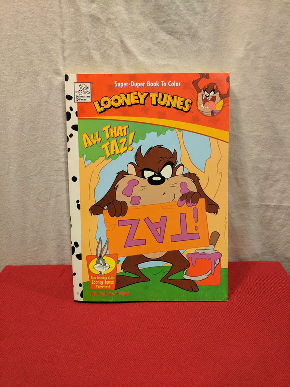 All That Taz Colouring Book