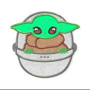 Baby Yoda Embroidery Applique Designs