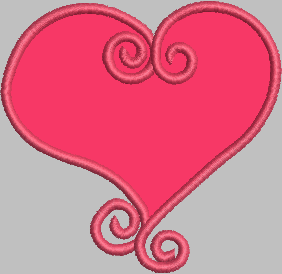 Heart Machine Embroidery Applique Design - IC1derful Designs