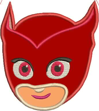 PJ Mask Owlette Embroidery Applique Design - IC1derful Designs