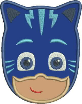 PJ Mask Catboy Embroidery Applique Design - IC1derful Designs