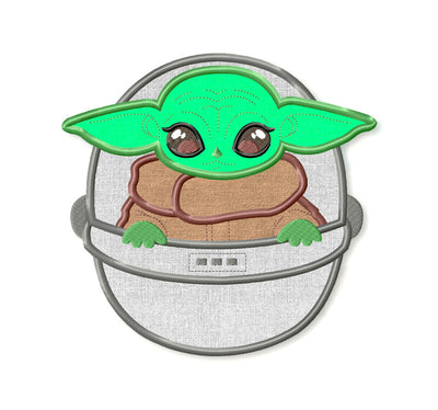 Baby Yoda Embroidery Applique Designs - IC1derful Designs