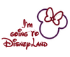 "Minnie Mouse Embroidery Applique Designs ""Going To Disneyland"" - IC1derful Designs"