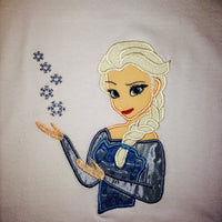 Disney Frozen ELSA Embroidery Applique Designs - IC1derful Designs
