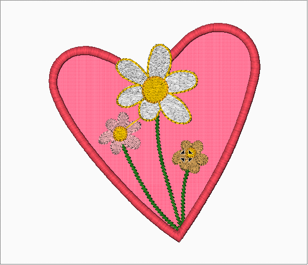 Heart Applique Embroidery Designs with Flowers - IC1derful Designs