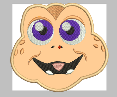 baby sinclair dinosaur embroidery design