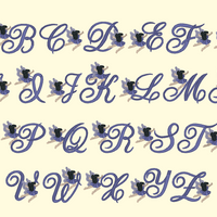BX Fonts Embrilliance for Machine Embroidery Design FAIRIES 2.5 Inch - IC1derful Designs