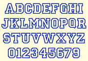 BX Fonts Embrilliance for Machine Embroidery Design JERSEY STYLE Applique 5 Inch - IC1derful Designs