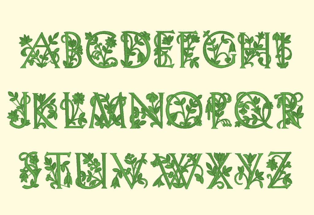 BX Fonts Embrilliance for Machine Embroidery Design SECRET GARDEN 1.5 Inch - IC1derful Designs