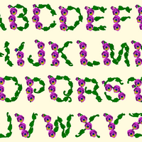BX Fonts Embrilliance for Machine Embroidery Design PANSY 3 Inch - IC1derful Designs