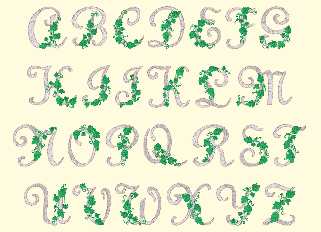 BX Fonts Embrilliance for Machine Embroidery Design VINTAGE 2 Inch - IC1derful Designs