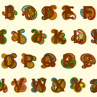 BX Fonts Embrilliance for Machine Embroidery Design PAISLEY Alpha 4 inch - IC1derful Designs