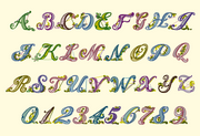 BX Fonts Embrilliance for Machine Embroidery Design Initial Script Style 1 Inch - IC1derful Designs