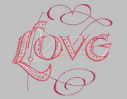 Word Embroidery Designs (LOVE) - IC1derful Designs