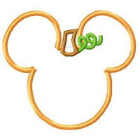 "Mickey Mouse Embroidery Applique Designs ""PUMPKIN"" - IC1derful Designs"