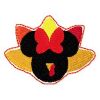 "Mickey Mouse Embroidery Applique Designs ""TURKEY Boy FELTIE"" - IC1derful Designs"