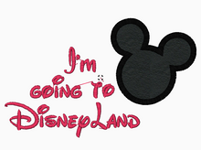 "Mickey Mouse Embroidery Applique Designs ""Going To Disneyland"" - IC1derful Designs"