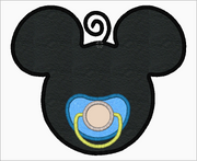 "Mickey Mouse Embroidery Applique Designs ""Boy Pacifier"" - IC1derful Designs"