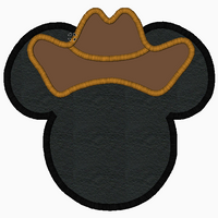 "Mickey Mouse Embroidery Applique Designs ""COWBOY"" - IC1derful Designs"