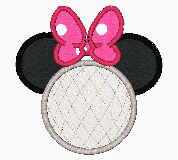 "Minnie Mouse Embroidery Applique Designs ""EPCOT (No Legs)"" - IC1derful Designs"