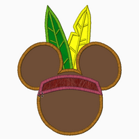 "Mickey Mouse Embroidery Applique Designs ""INDIAN Boy"" - IC1derful Designs"