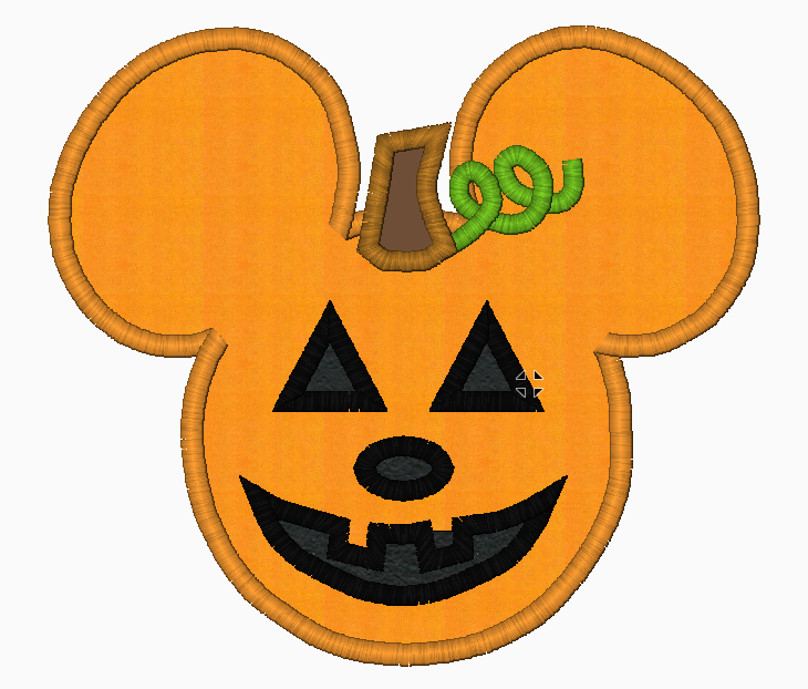 "Mickey Mouse Embroidery Applique Designs ""JACK O'LANTERN  Boy"" - IC1derful Designs"