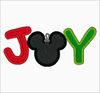 "Mickey Mouse Embroidery Applique Design ""JOY"" - IC1derful Designs"