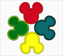 "Mickey Mouse Embroidery Applique Designs ""4 Heads"" - IC1derful Designs"