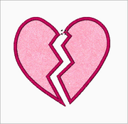 Broken Heart Machine Embroidery Applique Designs - IC1derful Designs