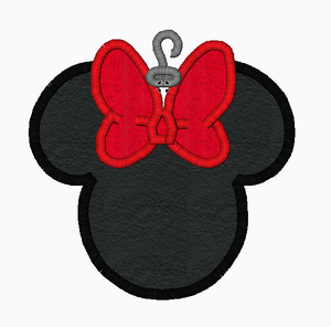"Minnie Mouse Embroidery Applique Designs ""Christmas"" - IC1derful Designs"