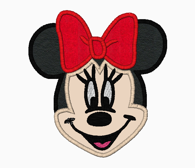 "Minnie Mouse Embroidery Applique Designs ""Head and Face"" - IC1derful Designs"