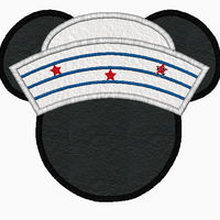 "Mickey Mouse Embroidery Applique Designs ""Sailor"" - IC1derful Designs"