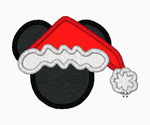 "Mickey Mouse Embroidery Applique Designs ""SANTA"" - IC1derful Designs"