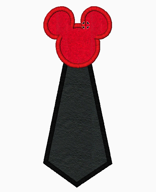 "Mickey Mouse Embroidery Applique Designs ""TIE"" - IC1derful Designs"