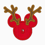 "Mickey Mouse Embroidery Applique Designs ""Reindeer"" - IC1derful Designs"