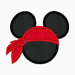 Mickey Mouse Applique Embroidery Design PIRATE - IC1derful Designs