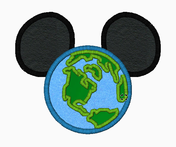 "Mickey Mouse Embroidery Applique Designs ""WORLD"" - IC1derful Designs"
